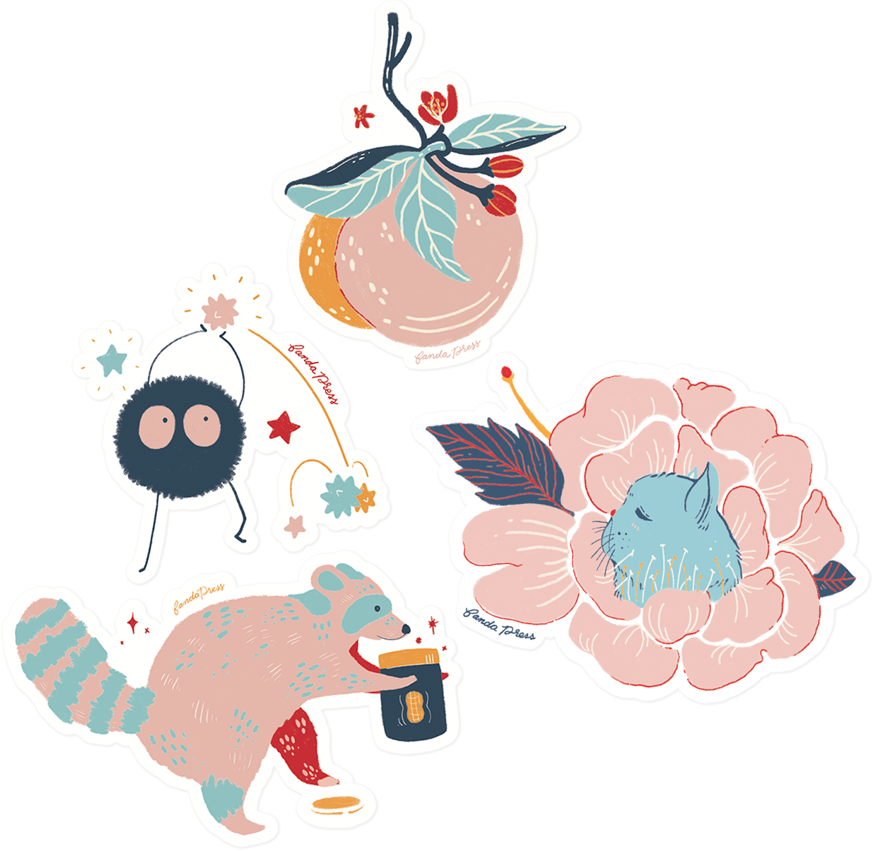 A collection of stickers